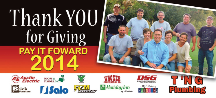 Paying it Forward 2015 - T 'N G Plumbing